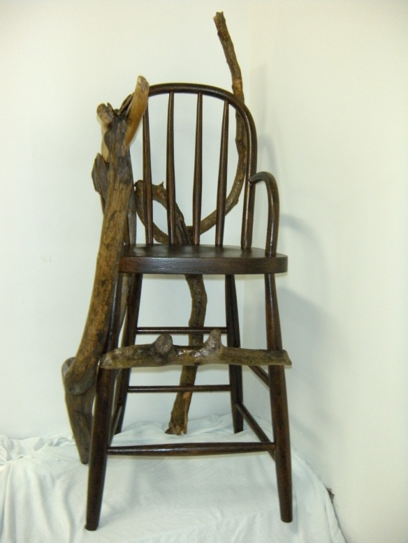 Resurrection Chair (2009) wood. Artist Julianna Paradisi
