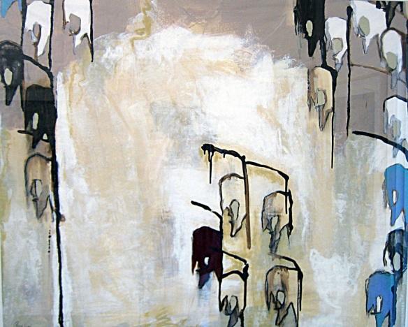 Twenty-One (2007) mixed media on vellum. Artist: J.Paradisi