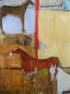 Untitled 2007 mixed media on gesso/paper by J.Paradisi