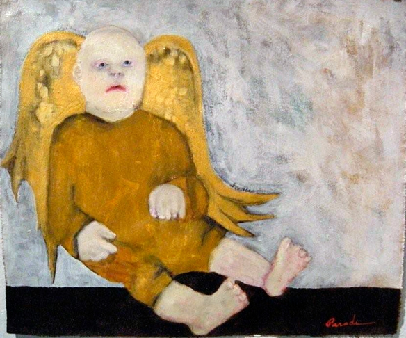 Icarus (2009) oil on unstretched canvas artist: JParadisi
