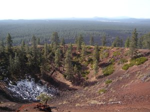 Cinder Cone with lava field in the background photo: JParadisi