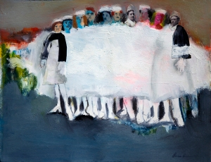 The White That binds (Pinning Ceremony) mixed media by jparadisi. )