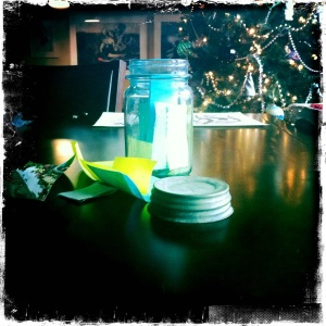 Blue Mason Jar of Dreams photo: jparadisi 2011