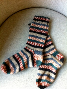Hand Knit Socks for the Journey of 2012