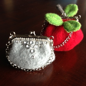 Little Gems & Apple Bite Felted Purses made by me