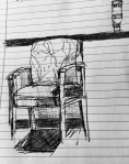 Waiting Room ballpoint pen on paper by Julianna Paradisi