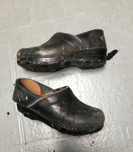 The Disintegrated Soles of My Nursing/Painting Clogs